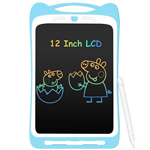 AGPTEK Tavoletta Grafica LCD Scrittura 12 Pollici Colorato con Pulsante di Blocco,Lavagna da Disegno Cancellabile… Informatica