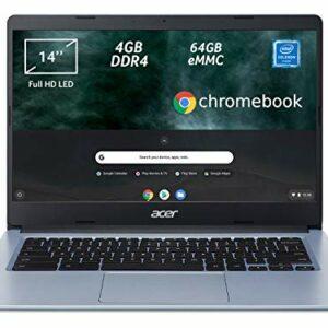 Acer Chromebook 314 CB314-1H-C2W1 Notebook, PC Portatile, Processore Intel Celeron N4000, Ram 4GB DDR4, eMMC 64 GB… Offerte e sconti