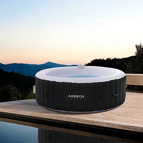 Arebos – Vasca ROME idromassaggio gonfiabile per interni ed esterni | 6 persone | rotonda | 1000 litri Casa e giardino