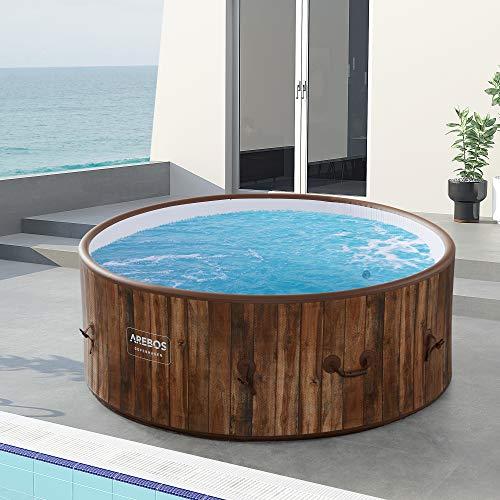 Arebos Whirlpool Copenhagen   gonfiabile   per interni ed esterni   7 persone   Drop Stitch   130 ugelli massaggianti… Casa e giardino
