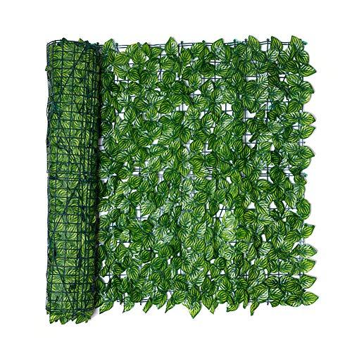 Artificiale Siepe Finta Foglia Edera, Siepe Artificiale Ivy Leaf Garden Fence Roll Green Wall Balcony Privacy Screening… Casa e giardino