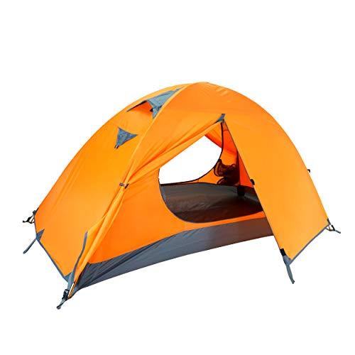 Azarxis Tenda Tende da Campeggio 1 2 3 Posti Persone 4 Stagioni Ultra Leggera Impermeabile Resistente Facile Doppio… Campeggio e trekking