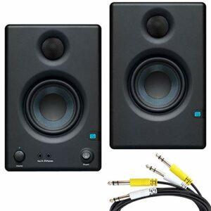 Presonus Eris 4.5 – Altoparlanti per monitor multimediali attivi + cavo di collegamento jack a 2 vie, 2 m Monitor da studio
