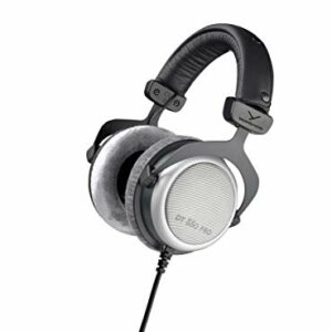 Beyerdynamic DT 880 PRO – Cuffie da studio per missaggio e mastering (semi-aperte), 250 Ohm, Grigio Cuffie da studio