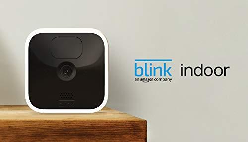 Blink Indoor, Videocamera di sicurezza in HD, senza fili, batteria autonomia 2 anni, rilevazione movimento…