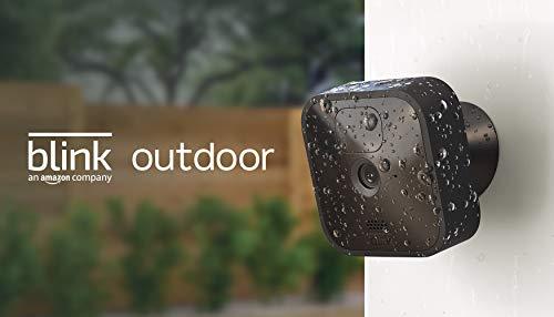 Blink Outdoor, Videocamera di sicurezza in HD, senza fili, resistente alle intemperie, batteria autonomia 2 anni…