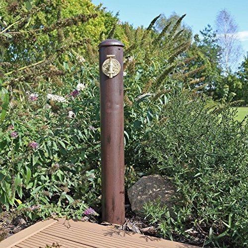 CLGarden Fontana Punto Acqua WZS1, Colonna d'Acqua per irrigazione Giardino in Acciaio, Altezza 90cm, Used Retro Look… Casa e giardino