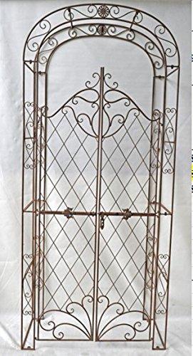 CLP Arco per Piante Rampicanti Melissa con Cancello in Ferro I Pergolato per Fiori con Porta Romantico Nostalgico… Casa e giardino