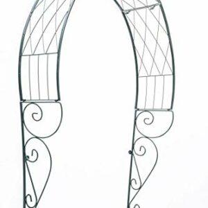 CLP Arco per Rampicanti da Appendere alla Porta in Metallo I Arco Porta Ingresso Decorativo Rose Trattato E Verniciato… Casa e giardino