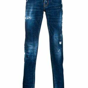 Dove acquistare DSQUARED2 Luxury Fashion Uomo S74LB0592S30342470 Blu Elastan Jeans | Stagione Outlet