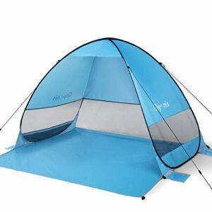 Glymnis Tenda da Spiaggia Pop-up Portatile Tenda Istantanea per 3-5 Persone, Protezione Solare UPF 50+, Include Borsa… Campeggio e trekking