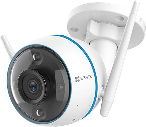 EZVIZ CTQ3N Telecamera Wi-Fi da Esterno con Visione Notturna a Colori, Telecamera di Sorveglianza con Intelligenza… Sicurezza e videosorveglianza
