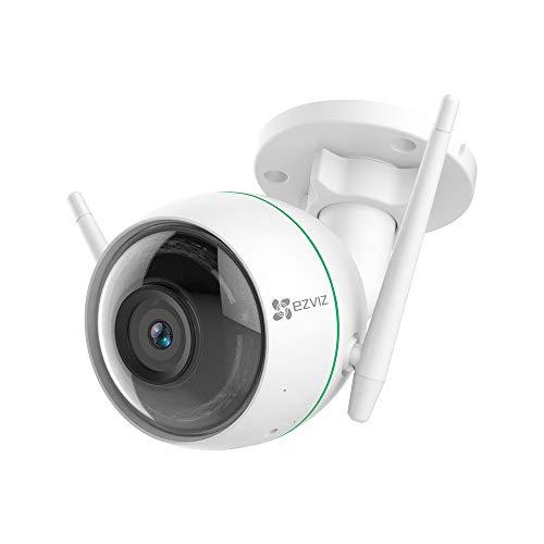 EZVIZ Telecamera di Sorveglianza Esterna 1080p, WiFi Videocamera, 2021 Aggiornata, Visione Notturna, Doppia Antenna WiFi…