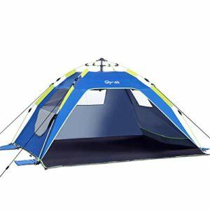 Glymnis Tenda da Spiaggia Pop-up Tenda Istantanea Portatile per 3-5 Persone, Protezione Solare UPF 50+ con 3 Finestra a… Campeggio e trekking
