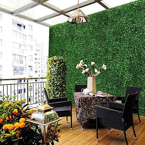 Erba artificiale Prato di piante,Pannelli di recinzione di piante Indoor Erba Artificiale finta Sguardo realistico Prato… Casa e giardino