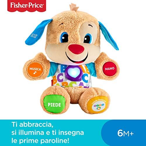 Fisher-Price il Cagnolino Smart Stages Ridi e Impara, Morbido Peluche Educativo con Musica e Canzoni, Giocattolo per… Giochi e giocattoli