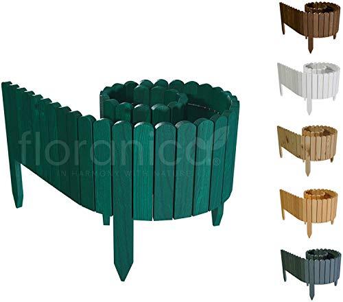 Floranica® Bordura Rollborder Recinto in Legno | srotolatile della 203 cm (accorciato) | dei paletti | Giardini… Casa e giardino