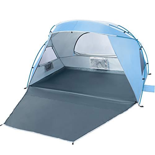 Forceatt 2 e 3 Persone Tenda da Campeggio da Spiaggia, Protezione Solare UPF50 +, Installazione Semplice, Leggera e… Campeggio e trekking