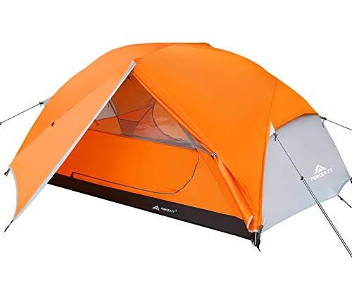 Forceatt Tenda Campeggio per 2-3 Persone, Impermeabile & Antivento 2 Porte Tenda da Campeggio Leggera, Facile da… Campeggio e trekking