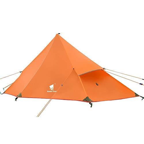 GEERTOP backpacking-tende geertop 20d ultraleggero 3 stagione backpacking tenda Campeggio e trekking