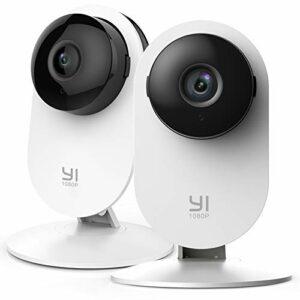 YI Home Camera 1080p Kit da 2 ,IP Camera WiFi,Telecamera Interno di Sorveglianza con Rilevamento di Movimento,Notifiche… Sicurezza e videosorveglianza