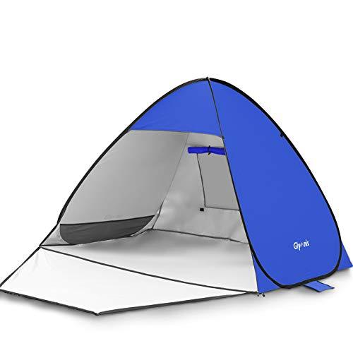 Glymnis Tenda da Spiaggia Completamente Chiuso Tenda Spiaggia Pop-up con Cerniera Tenda Istantanea Portatile 175 * 200… Campeggio e trekking