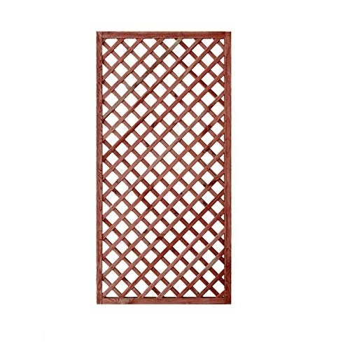 GrecoShop Griglia/Steccato/Pannello grigliato in Legno trattato per Giardino e terrazzo 180x90cm Casa e giardino