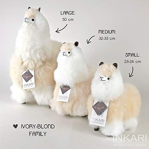 Inkari Alpaca Gift Toy, Super Sweet And Fluffy, Made of Real Alpaca And Llama Wool, Fair And Sustainable… Altro