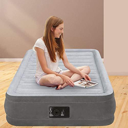 Intex 67766 Materasso Singolo Comfort Plush, Con Pompa Interna, Antracite/Grigio, 99 x 191 x 33 cm Campeggio e trekking