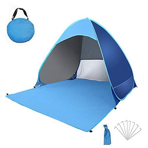 JU SHUN Tenda da Spiaggia Pop-up Automatica da Esterno, Tenda Anti-UV Leggera Portatile, Tenda da Spiaggia Facile da… Campeggio e trekking