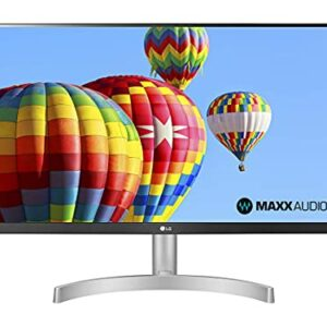 LG 24ML600S Monitor 24″ FULL HD LED IPS, 1920×1080, 1ms MBR, AMD FreeSync 75Hz, Audio Stereo 10W, HDMI (HDCP 1.4), VGA, Uscita Audio, Flicker Safe, Bianco Informatica