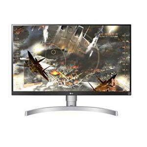 LG 27UL650 Monitor 27″ UltraHD 4K LED IPS HDR 400, 3840×2160, 1 Miliardo di Colori, AMD FreeSync 60Hz, HDMI 2.0 (HDCP 2.2), Display Port 1.4, Uscita Audio, Stand Pivot, Flicker Safe, Bianco Informatica