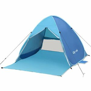 Glymnis Tenda da Spiaggia Pop-up con Sipario Cerniera Tenda Spiaggia Portatile per 2-3 Persone Protezione Solare UPF 50… Campeggio e trekking