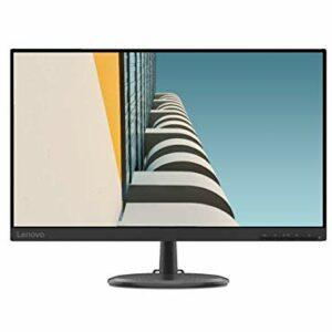 Lenovo C24-25 Monitor – Display 23.8″ FullHD (1920×1080, VA, Bordi Ultrasottili, FreeSync, 4ms, 75Hz, Cavo VGA, Input HDMI + VGA) – Black Informatica
