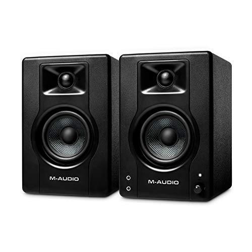 M-Audio BX3 – Casse amplificate da 120 W da tavolo – Monitor da studio per gaming, produzione musicale, streaming e… Strumenti e accessori musicali