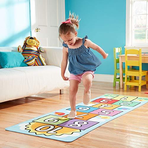 Melissa & Doug – Tappeto numerato per Giocare a Campana, Multicolore Giochi e giocattoli