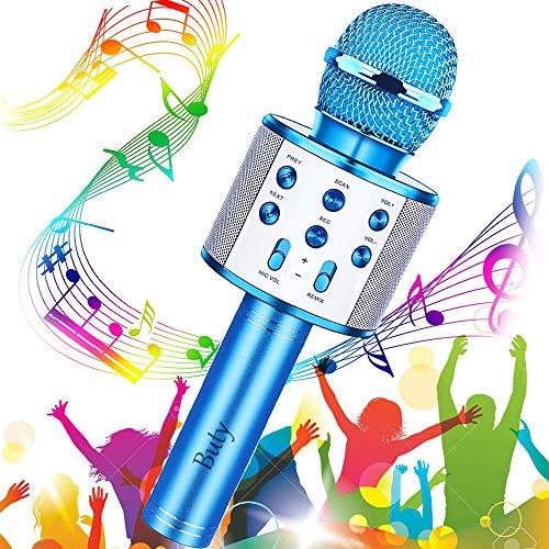 Microfono Karaoke Bluetooth, Buty 4 in 1 Wireless Bambini Karaoke, Portatile Karaoke Microfono con Altoparlante per… Strumenti e accessori musicali