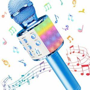 Dove acquistare Microfono Karaoke, Wireless Bluetooth LED Flash Microfono con Altoparlante, Portatile Karaoke Player Compatibile con…