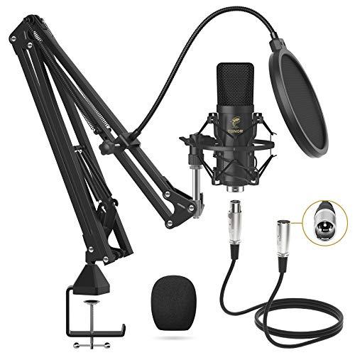 Microfono a Condensatore, TONOR Microfono Professionale Cardioid XLR con Braccio T20, Supporto Antiurto, Filtro Pop per… Strumenti e accessori musicali