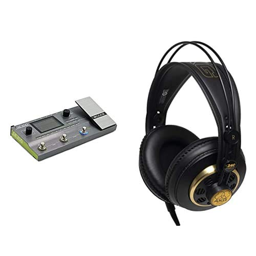 Mooer GE200 Pedaliera Multieffetto per Chitarra & AKG K240 Studio Semi Open Cuffie Tradizionali, Nero/Oro Strumenti e accessori musicali