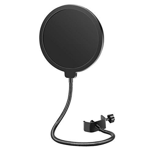Neewer NW(B-3) 6″ Filtro Antipop di Microfono da Studio con Clip di Supporto – Rotondo, Nero Strumenti e accessori musicali