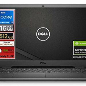 Notebook Dell, Cpu Intel i7 di 11 Gen. 4 core fino a 4,7 GHz, Display 15,6″ FullHd, SSD nvme 512 Gb, 16Gb DDR4, Win10 Pro, Svga MX 330 2gb, wi-fi, 4usb, lan, Pronto All'uso, Garanzia e layout Italia Offerte e sconti