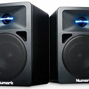 Numark N-Wave 360 – Casse PC Monitor da Tavolo Full Range per DJ, 60 Watt, Tweeter Illuminati LED, Controllo di Volume… Monitor da studio