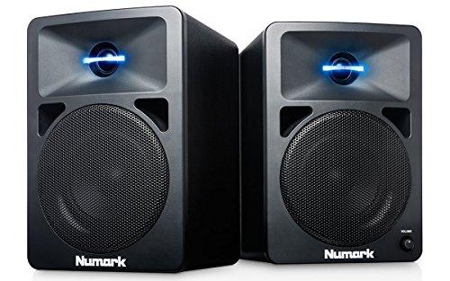 Numark N-Wave 360 – Casse PC Monitor da Tavolo Full Range per DJ, 60 Watt, Tweeter Illuminati LED, Controllo di Volume… Strumenti e accessori musicali