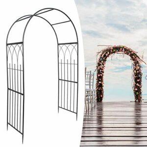 Cikonielf Arco per piante rampicanti, gazebo di ferro, arco di fiori per recinzioni, 55 x 105 x 215 cm Casa e giardino