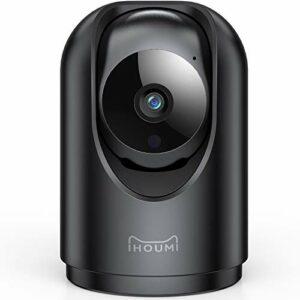 Telecamera Wi-Fi Interno, IHOUMI 1296P videocamera sorveglianza interno wifi,con Super Visione Notturna / Audio… Sicurezza e videosorveglianza