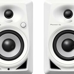 Pioneer DJ, DM-40BT-W, Coppia di monitor Bluetooth, bianco Monitor da studio
