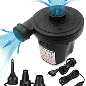 Pompa Elettrica, Gonfiatore Elettrico Elettrica per Materasso Gonfiabile Rantizon DC12V/AC220V Pompa per materasso… Campeggio e trekking