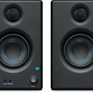 PreSonus ERISE3.5 Monitor di riferimento multimediale professionale con sintonizzazione acustica (coppia), nero Monitor da studio