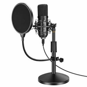 YOTTO Microfono USB per PC laptop, Microfono a Condensatore 192KHz/24Bit Cardioide con Filtro Antipop, Supporto… Microfoni